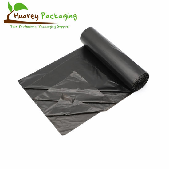HDPE/LDPE Plastic Black Can Liners Trash Garbage Bag on Roll