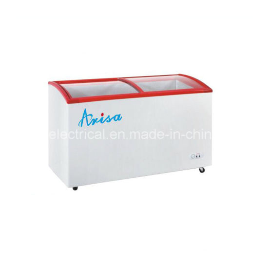 China Commercial Use Sliding Glass Door Chest Freezer China