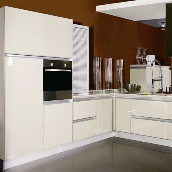 China High Gloss Lacquer Finish Kitchen Cabinet With