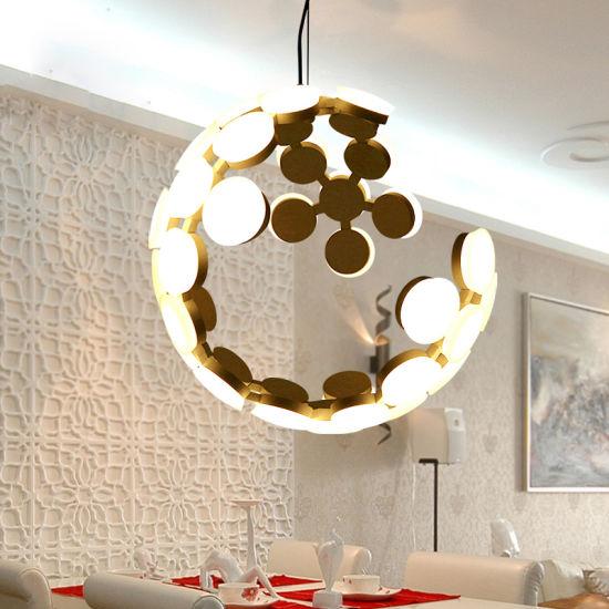 Modern Round Lantern Pendant Light Fixture for Indoor Home Lighting Fixtures (WH-AP-60)