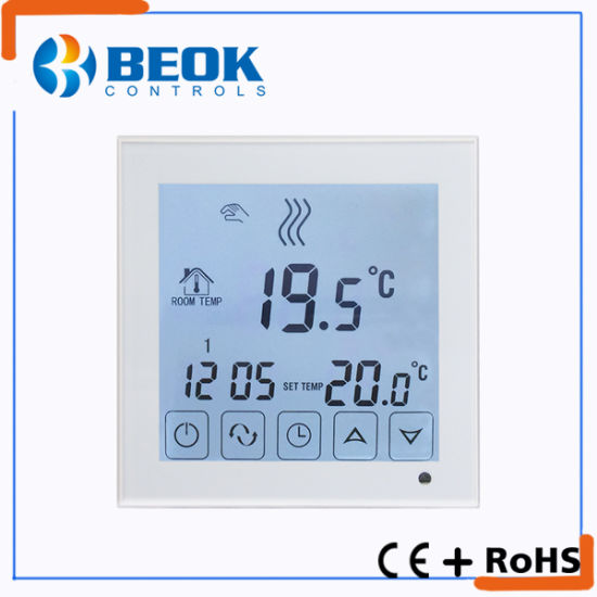 China Wall Surface Mounted Gas Boiler Thermostat with Programmable ...