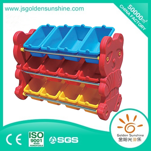 Children Furniture Plastic Toy Shelf Storage Cabinet with Ce/Ios Certificate pictures & photos