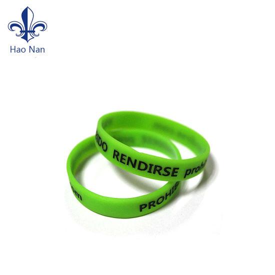 No MOQ Free Sample Wholesale Cutom Silicone Wristband