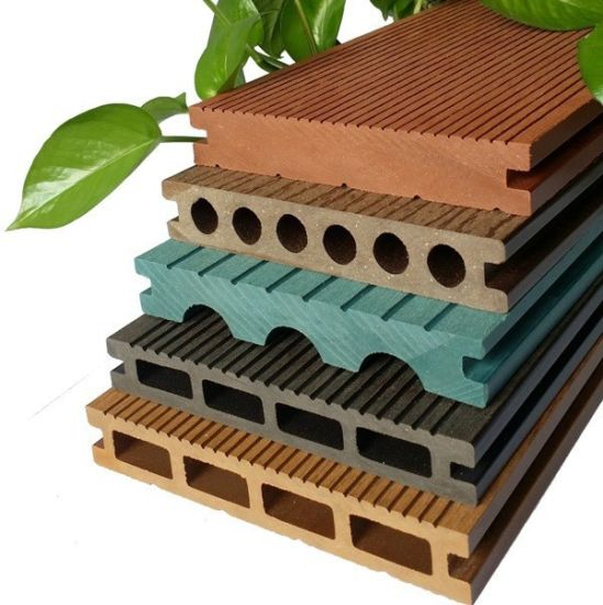 Eco Forest Easy Assemble ISO Certificate Hollow Plastic Wood Composite WPC Floor