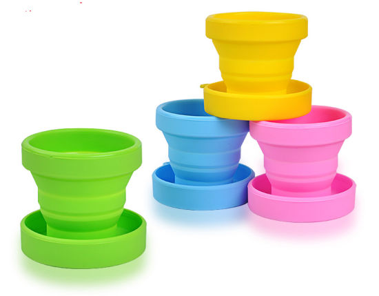 Food Grade Retractable Telescopic Collapsible Silicone Folding Foldable Water Cups