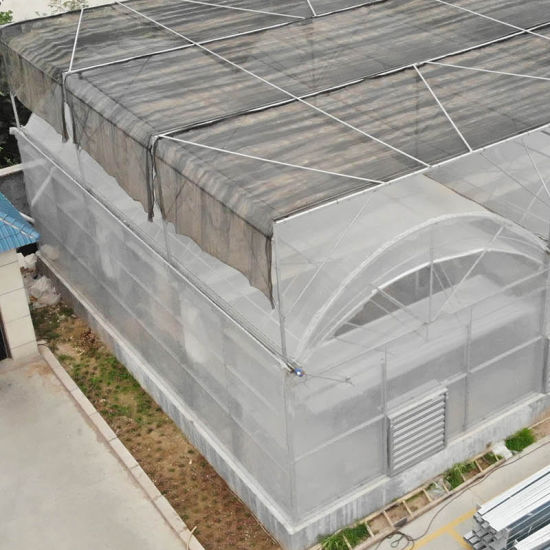 Flower Plant Greenhouse with Zinc 275G/M Gutter Plastic Film Covering