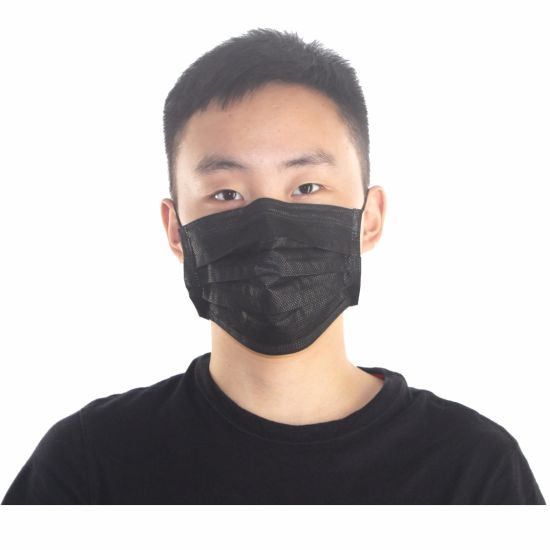 Black Disposable Medical Topmed Non-woven Surgical Customized Face Mask