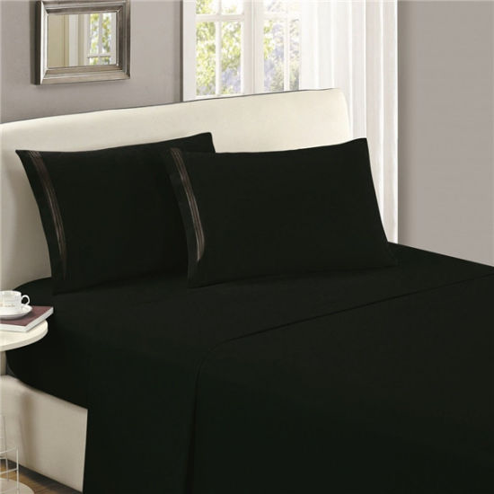 Popular 1800 Thread Count Series Microfiber Bed Sheet pictures & photos