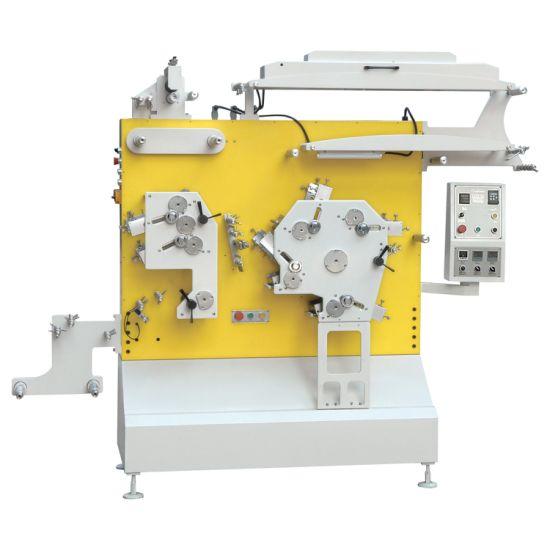 4+2 Colors Flexo Fabric Label Printing Machine, Polyester Satin Ribbon Garment Wash Care Label Printing Machine for Cotton Tape, Nylon Taffeta and Paper Label