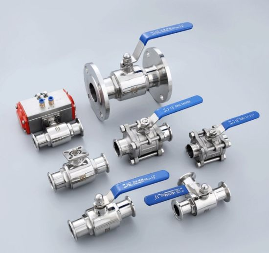 OEM Customized 304 /316 Manual Flow Control Industrial Floating Sanitary Stainless Steel Ball Valve