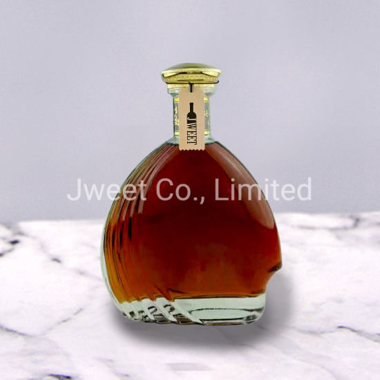 Chinese Liquor Glass Unique Clear Round Glass Wine Bottle