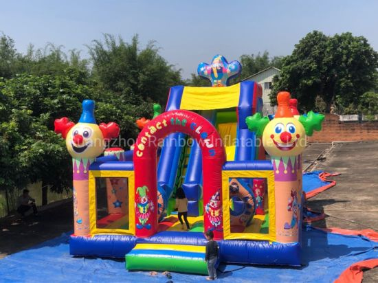 Ready to Ship Stock Clown Inflatable Castle Funcity Playground pictures & photos