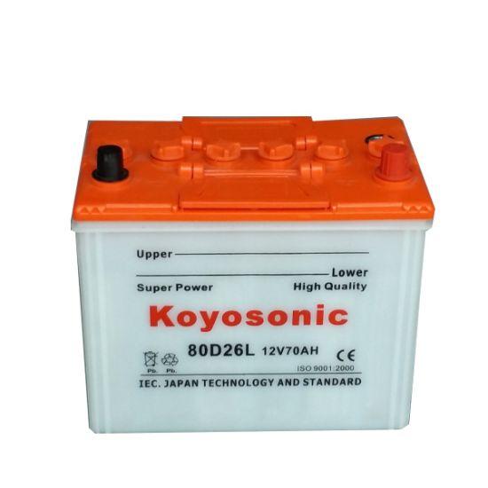 N70 Car Battery 12V 70ah Dry Battery Car Dry Automotive Battery Solar Storage Battery Vehicles Toyota Car Battery