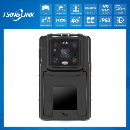Face Recognition 1080P 4K Waterproof Law Enforcement Recorder GPS Security IP Night Vision Portable Handheld Mini Police Body Worn Camera