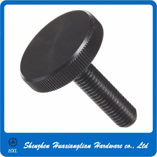 OEM Steel Black Oxide Knurled Head Thumb Screw pictures & photos