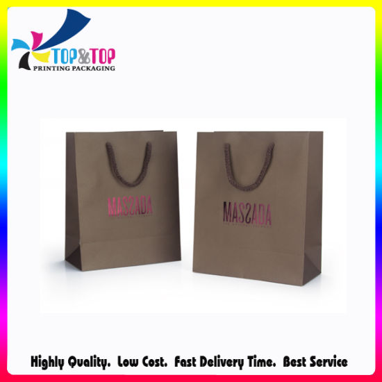 Personalized Logo Wholesale Kraft Paper Promotional Bag pictures & photos