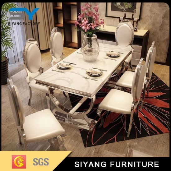Restaurant Furniture Modern Dining Set 6 Seater Dining Table & China Restaurant Furniture Modern Dining Set 6 Seater Dining Table ...
