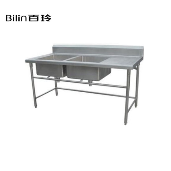 China Stainless Steel Commercial Kitchen Sink Work Table