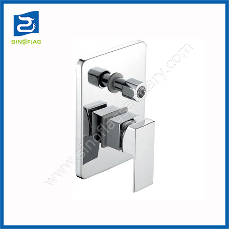 Hidden in Wall Two Functions Concealed Square Shower Faucet Set