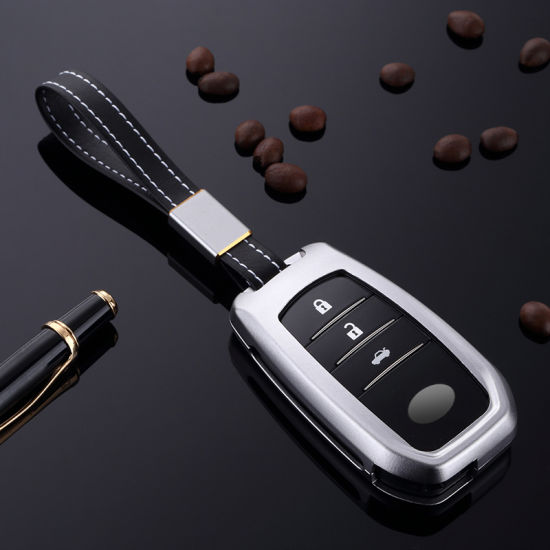 High Quality 3 Buttons Remote Key Shell for Toyota Crown Smart Cover Car Key Case Aluminum pictures & photos