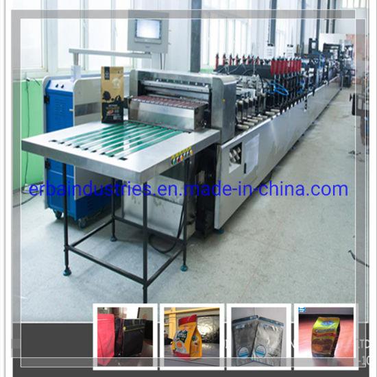 Automatic Plastic Flat Bottom Pouch Making Machine