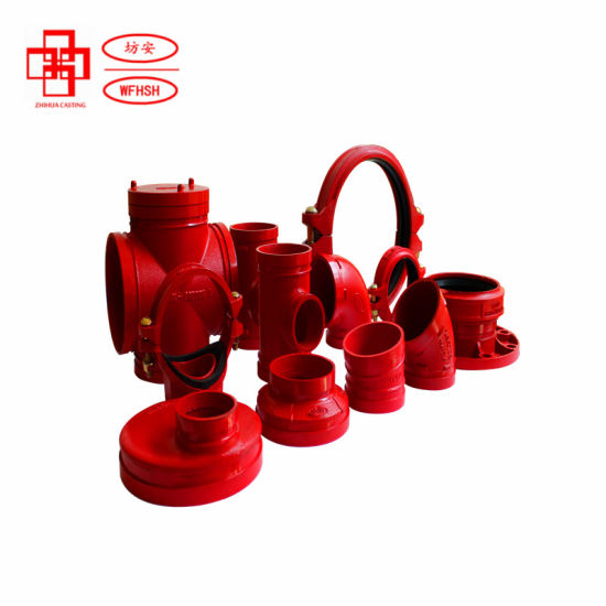 Ductile Iron ASTM A536 Grade 65-45-12 Grooved Pipe Fittings and Couplings for Fire Protection System