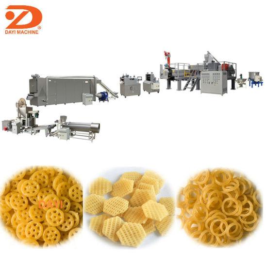 China Manufacturer Fried Snack 3D Pellet Chips Food Processing Line