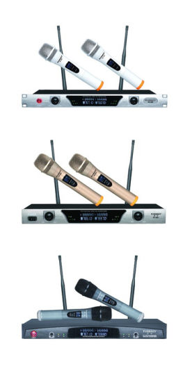 VHF Wireless Conference Microphone 2 Channels with 2 Microphones, KTV Microphone pictures & photos