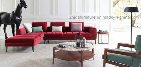 Modern L Shape Furniture Living Room Sofa Set pictures & photos
