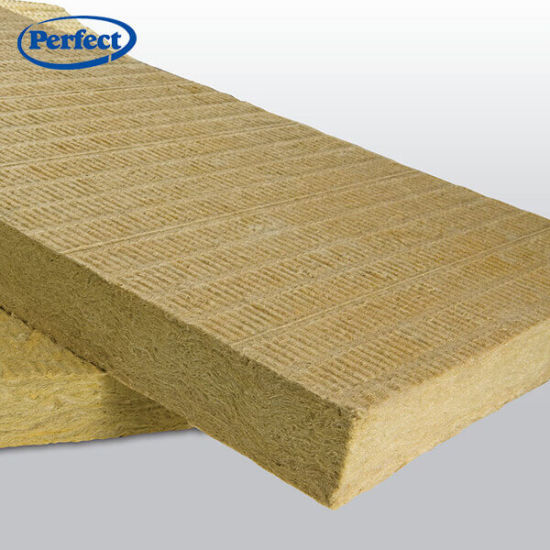 Building Materials 150kg/M3 Thermal Insulation Board Rock Wool with 80% Basalt