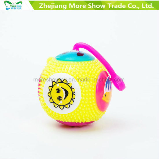 Light-up Flashing Sounding Spiky Puffer Massaging Yo-Yo Ball Toys pictures & photos
