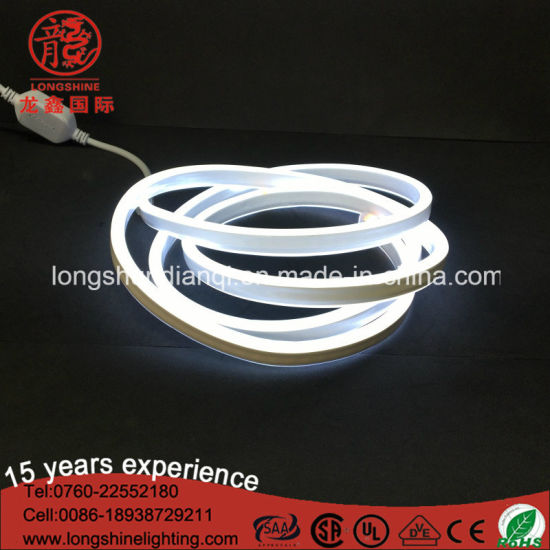 LED Double Side White 220V/12V Neon Flex Light with Ce RoHS pictures & photos