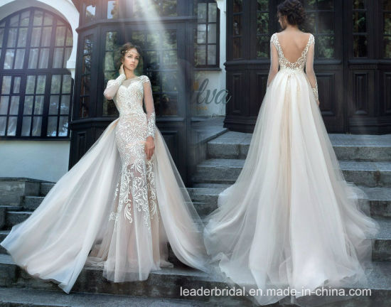 Mermaid Wedding Gowns With Sleeves: China Lace Bridal Gowns Mermaid Long Sleeves Wedding