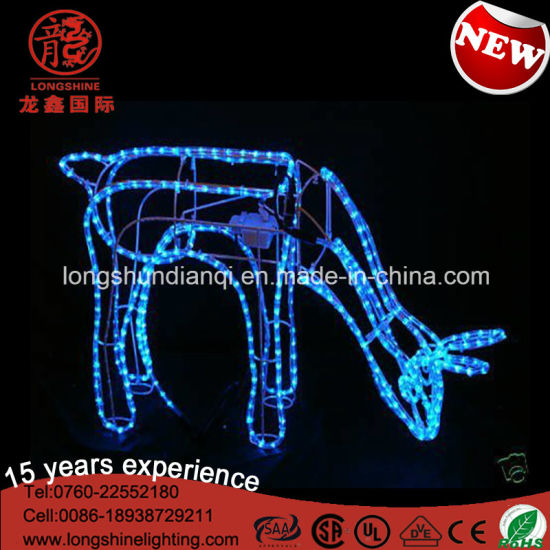 LED Blue Twinkling Frame 2D 68cm Reindeer Christmas Light Motif Light Christmas Decoration pictures & photos