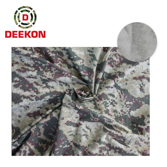 Waterproof Peru Woodland Digital Twill 100% Cotton Military Camouflage Fabric