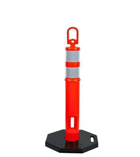 PU Material Reflective Safety Road Basetraffic Post pictures & photos