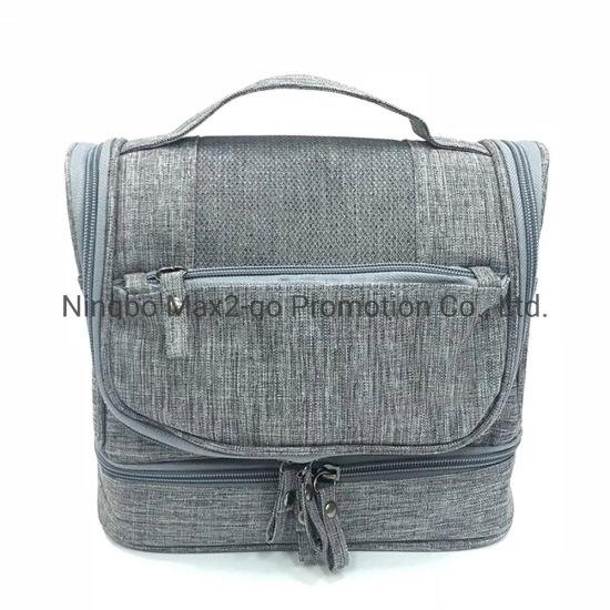 Toiletry Organizer Bag for Traveling Men Shaving Kit Bag Waterproof Hanging Cosmetic Bag