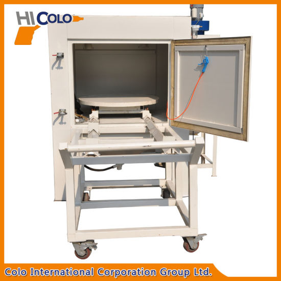 Sand Blasting Cabinet with Cart for Car Wheels pictures & photos