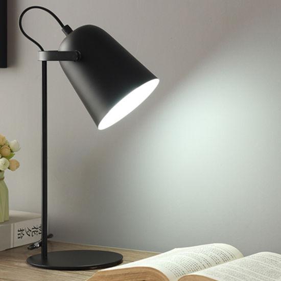 Bedside Black Table Lamp for Kids Room Reading Room Modern Style