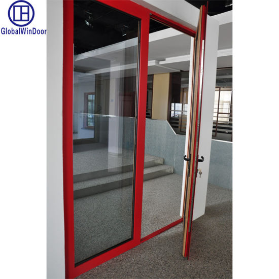 China Aluminium out Swing Patio Doors Commercial Steel French Doors on