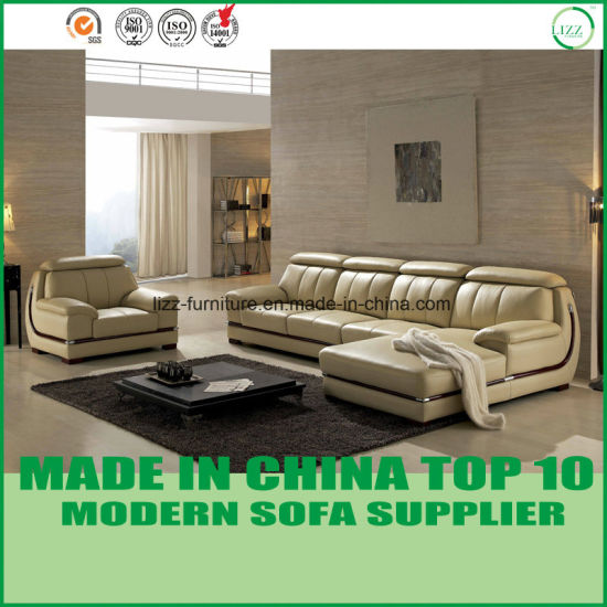 Modular L Shape Living Room Leather Sofa Set