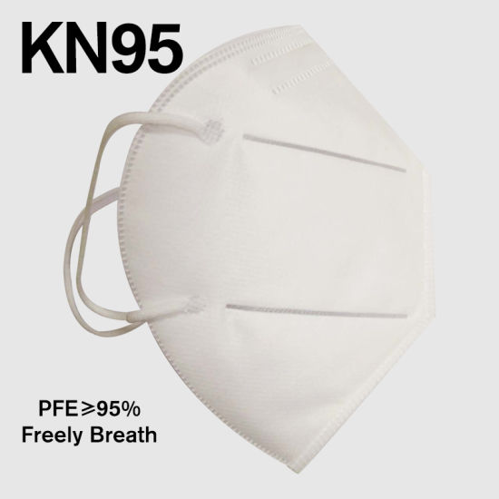 Quick Delivery Ce Certified 5 Ply Dust Protective KN95 Mask Mascarilla Mascherina Mascara Facemask Respirator Musk Folded Earloop
