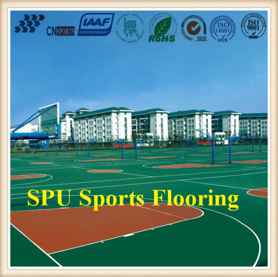 Factory Supply Patented Spu Sports Flooring with Iaaf Certificate pictures & photos