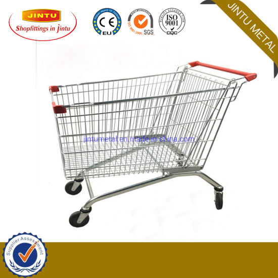 60L-240L Durable Euro Style Heavy Duty Supermarket Shopping Cart Shopping Trolley/Supermarket Cart