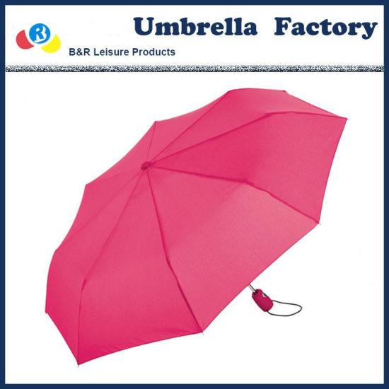 Heavy Rain Sun Umbrella Pink Color for Lady Gril