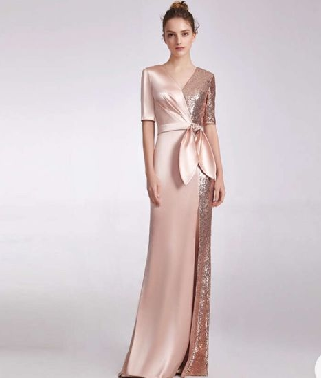 New Sexy V-Neck Style Fashion Evening Dress for Women