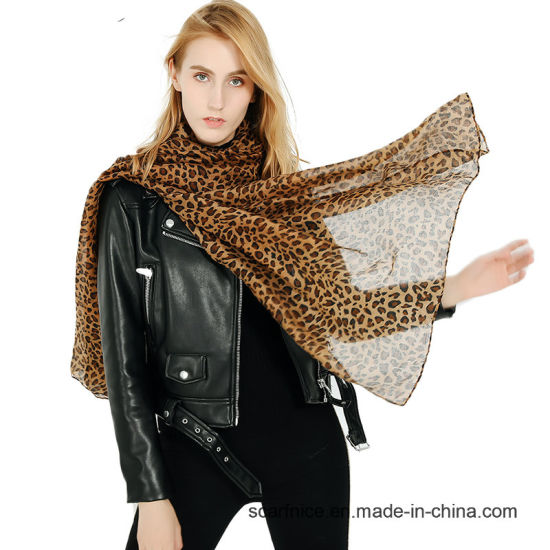 11455e0687779 Leopard Print Neck Scarf Big Soft Warm Blanket Scarves Women Luxury Brand Wrap  Shawl Pashmina for Lady