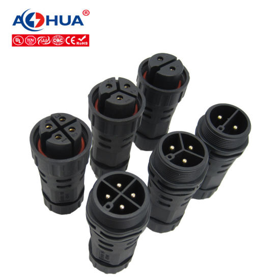 M25 2pin 3pin 4pin Wire to Wire Screw Fixing IP67 Assembly Waterproof Plug Connector