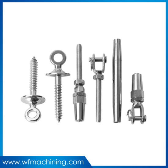 Customized AISI316 Stainless Steel Rigging Screw Eye and Terminal for Wire Rope