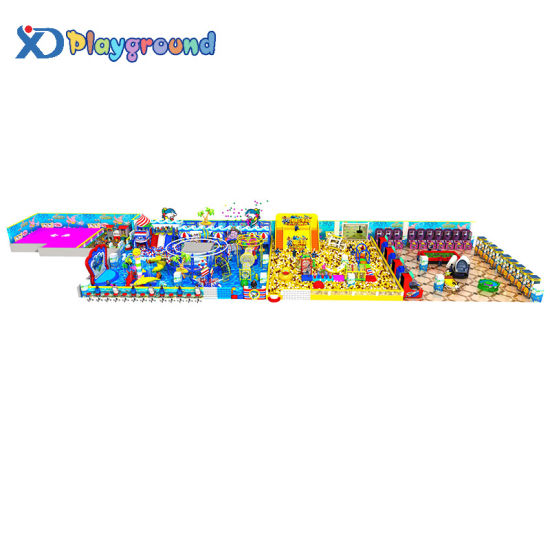 Ocean Themed Commercial Kids Indoor Playground with Ball Pool and Slide